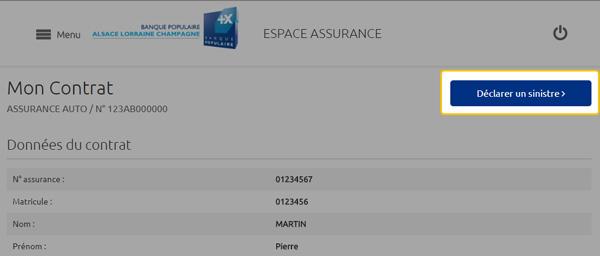 Déclaration Sinistre Espace Assurance BPCE IARD Auto